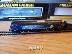 371-654 Graham Farish Class 57011 Drs. N Gauge & 4x Mk2a Bso Brake Open Coach