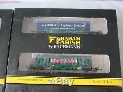 4 x Pairs Graham Farish N Gauge Intermodal Bogie Container Wagons