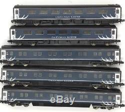 5x Graham Farish Mk2 Mk3 coaches Caledonian Sleeper teal n gauge 1/2