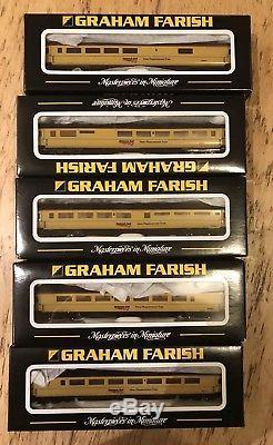 5x Graham Farish Mk3 coaches Network Rail New Measurement Train NMT n gauge