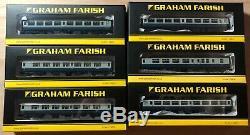 6x Graham Farish BR Mk2A BR Blue Coaches. Mixed Rake