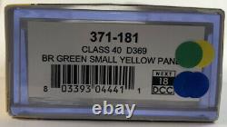 DCC Sound Graham Farish Class 40 Diesel D369 BR Green Small Yellow Panel