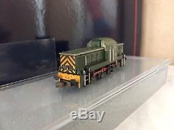 Farish 372-951 Class 14'teddybear' Diesel D9523 Br Green With Wasp Stripes