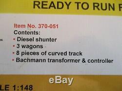GRAHAM FARISH/BACHMANN N GAUGE Freight Starter Train Set #370-051 Nr mint Boxed