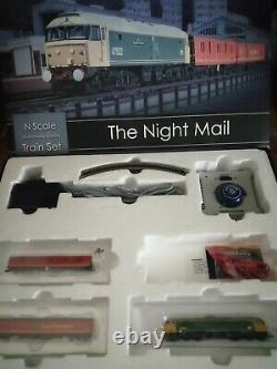 GRAHAM FARISH'N' GAUGE 370-130'THE NIGHT MAIL' TRAIN SET used