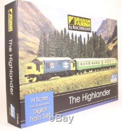 Graham Farish 370-048 The Highlander Train Set Digital Train Set- N Gauge