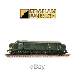 Graham Farish 371-457 Class 37/0 D6714 BR Green Yellow Panel Split Head N Gauge