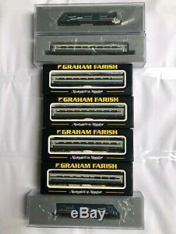 Graham Farish 371-475A N Gauge HST Set'Midland Mainline' New Livery + 4 Coaches