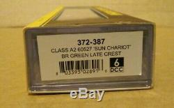 Graham Farish 372-387 Class A2 BR Green 60527'Sun Chariot' late crest N Gauge