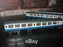 Graham Farish 374-710a x3 mk 2a tso blue grey N gauge