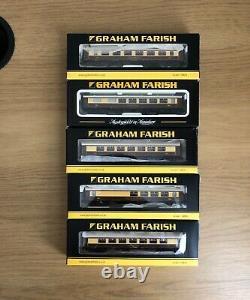 Graham Farish 5 x MK1 Pullman coaches Umber & Cream inc. Hadrian Bar N Gauge