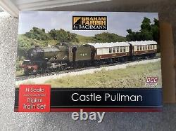 Graham Farish Bachmann 370-160 Castle Pullman DCC with sound'n gauge' set NEW