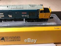 Graham Farish Class 37 37407 Loch Long BR Blue Large Logo. 371-165. DCC Ready