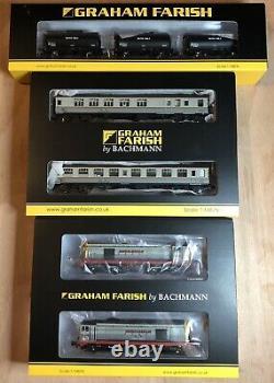 Graham Farish Hunslet-Barclay Weed Killing Train. Complete Set. DCC Ready
