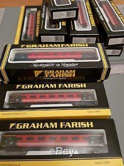 Graham Farish Mk2 Virgin Coach RAKE OF 15