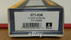 Graham Farish N Gauge 371-038 Class 20 D8158 BR Green 6DCC NEW