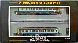 Graham Farish N Gauge 371-876 Class 108 Two Car Dmu Br Blue Grey Boxed