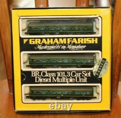 Graham Farish N Gauge 8143 B. R. Class 101 3 Car Diesel Multiple Unit -boxed