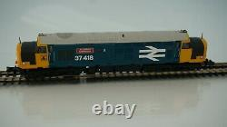 Graham Farish N Gauge Class 37 418 in BR Large Logo Blue DCC Fitted