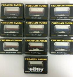 Graham Farish N gauge MFA wagons x10 Used, all boxed, excellent condition