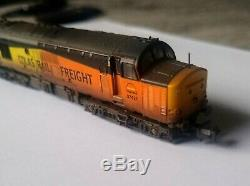 Graham Farish class 37 n gauge locomotive. DCC sound fitted and weathered