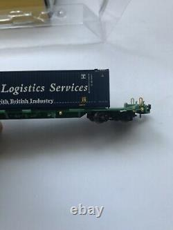 Graham farish n gauge INTERMODAL BOGIE WAGONS WITH CONTAINERS MALCOLM LOGISTICS
