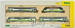 Minitrix Trix 11610 Cat City Airport Train 4 Car Commuter Epoche V Boxed