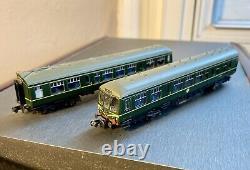 N Gauge Class 108 Graham Farish 2 Car DMU BR Green Speed Whiskers