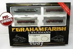 N Gauge Farish 370-100 Royal Scot Passenger Train Set Loco 4 Coaches Track Etc