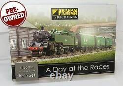 N Gauge Farish 370-185 A Day At The Races Train Set Loco Horse Boxes Track etc