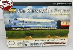 N Gauge Farish 370-275 The Merseyside Express Train Set Loco Coaches Track etc