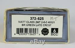 N Gauge Farish 372-625 ZIMO DCC SOUND Ivatt 2MT 46521 BR Green Loco