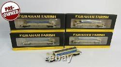 N Gauge Farish 5x Auto-Ballaster Railtrack Wagons (1 Unboxed) 377-700 701 702