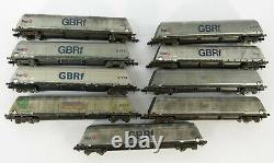 N Gauge Farish 9x Bulk Coal Bogie Hopper Wagons GBRF Fastline 377-575 576 577