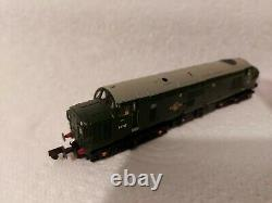 N Gauge Farish Class 37 No. D6707 in BR Green livery. DCC SOUND