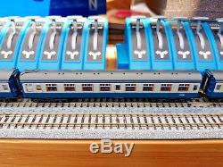N Gauge Locomotive Graham Farish 411 Four Car EMU BR Blue and Grey DCC Fitted