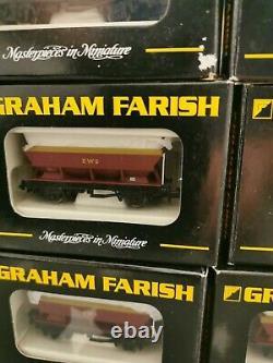 N Gauge Wagon. Graham Farish. EWS HEA Hopper Wagon. (X10) Rake. In Original box