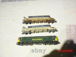 N Locomotive + 7 wagons trémies NEUF