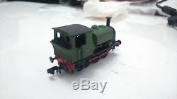 N gauge kit built Industrial Manning Wardle 0-6-0 with Graham Farish chassis