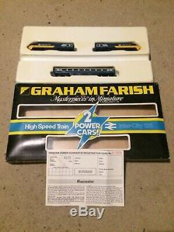 Original Graham Farish (Poole) N Gauge Blue Grey HST 125 2 Power Cars 8125