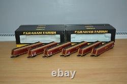 Rake Of 6 (six) Farish N Gauge/scale Hta Bulk Coal Hopper Wagons In Ews Livery