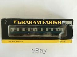 Rake of 8 Graham Farish MK1 Coaches Blue Riband in Blue/Grey N Gauge