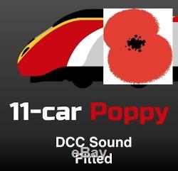 Revolution Pendolino Poppylino 11 Car Set. DCC Sound with Light Bars. NEW